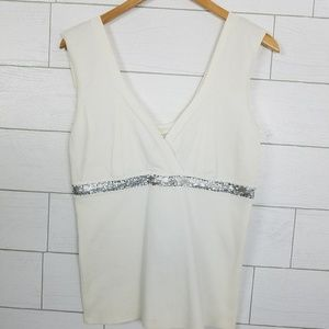 WR9000 Size Large Tank Top with Metal Mesh Detail